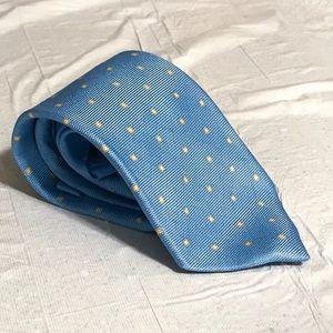 Luigi Borrelli Blue Geometric Tie Untipped 3 Fold